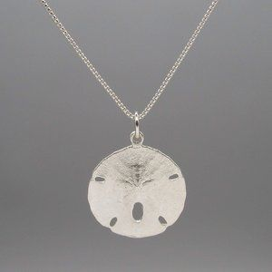 Jewelry - NEW! Sterling Silver Sand Dollar Pendant on Chain